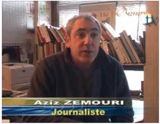 la racaille islamiste Aziz Zemouri l'acolyte de Jean-Michel Decugis. Comme dirait Manuel Valls « l'islam est une chance pour la France ». Voila un bon spécimen d'une chance pour la France un islamiste, voleur, escroc et violent avec ça.